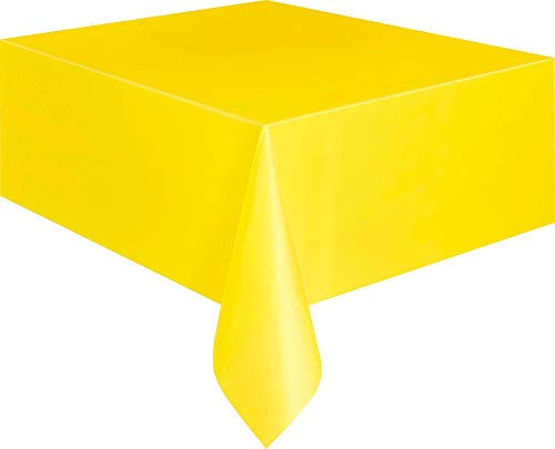 Kunststoff-Tischdecke - 2,74 m x 1,37 m - Gelb
