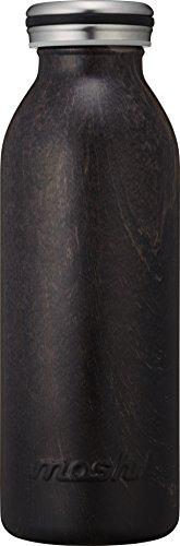 水筒 真空断熱 スクリュー式 マグ ボトル 0.45L 木目ダークブラウン mosh! (モッシュ! ) DMMB450WD