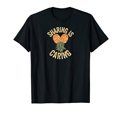 Funny Swinger Lifestyle Pineapple Sharing Is Caring T-Shirt