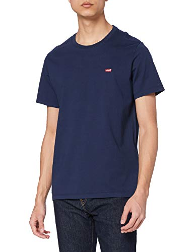 Levi's SS Original Hm tee Camiseta, Cotton + Patch Dress Blues, L para Hombre