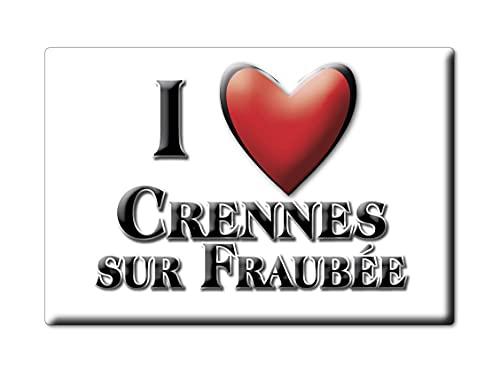 Enjoymagnets CRENNES sur FRAUBÉE (53) Souvenir Aimant DE FRIGO France Poitou Charentes IDÉE DE Cadeau Magnets Je Aime