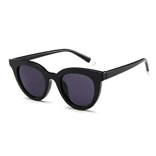 SHENY Occhiali da Sole Donna Cat Eye Fashion Uv400 Occhiali da Sole Lenti Sfumate Occhiali da Sole da Donna in Plastica novità Nero