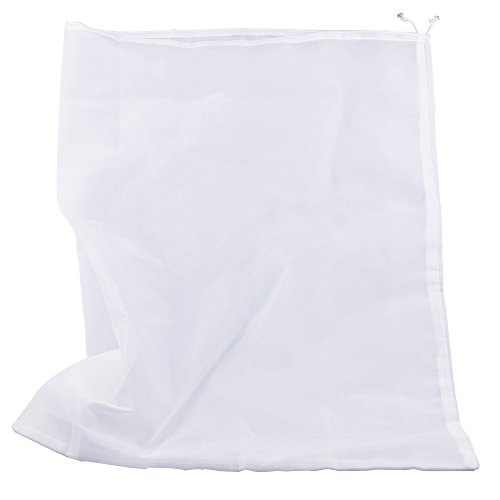 """Pinfox 75 Micron Nylon Straining Bag Fine Mesh Food Strainer Filter Bags for Nut Milk, Green Juice, Cold Brew, Home Brewing (25.39"""" x 18.89"""")"""