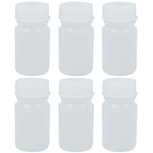6 x Apothekerdose 50 ml mit Schraubverschluss, Apothekerflasche, Laborflasche aus Kunststoff (PE-LD), BPA frei -made in Germany