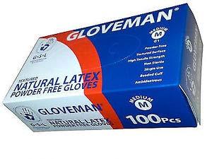 Guantes de vinilo, sin polvo y sin látex, 100guantes por caja, tamaño mediano–apto para alimentación(color azul)