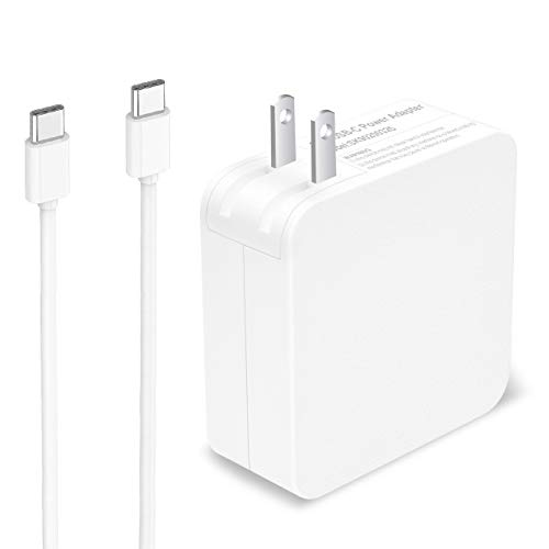 65W USB Type C Power Adapter Fast Charger for Apple MacBook/Pro, Lenovo, ASUS, Acer, Dell, Xiaomi Air, Huawei Matebook, HP Spectre, Thinkpad and Any Other Laptops or Smart Phones with The USB C