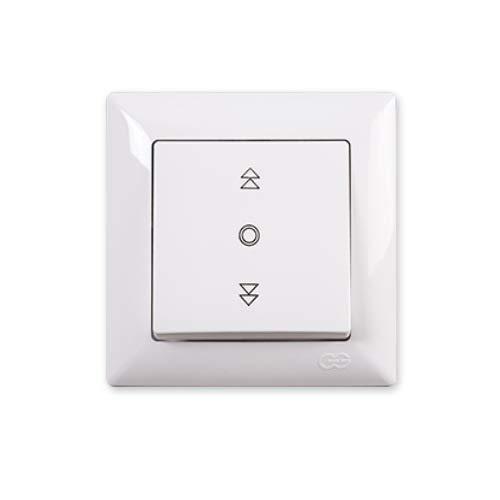 Gusan Visage 01281100100179 - Interruptor de persiana, 10 A, 250 V, con certificado VDE