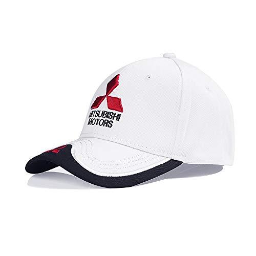 YanLong Mitsubishi Baseball Cap Motocross Hut Lokomotive Racing Entenzungenblende Weiß