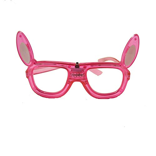 The Electric Mammoth LED Light Up Flashing Bunny Rabbit Easter Halloween Party Glasses Shades (Pink)