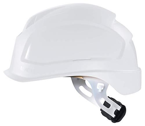 Uvex Pheos E-S-WR Schutzhelm - Unbelüfteter Arbeitshelm für Elektriker - Weiß Weiß