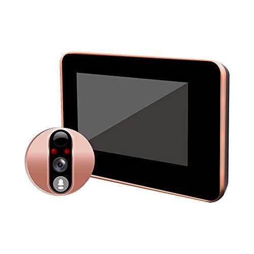 Timbre de Video Smart Peephole WiFi WiFi Video Inalámbrico Visión Nocturna Visión Nocturna Monitoreo Remoto Viewer Viewer Camera Campanas de Puerta (Color : Rose Gold, Size : 14x8.4cm)