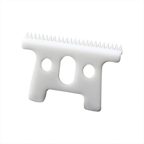 Fanxing Rasierer mit 24 Zähnen Keramikklingen für -andis-D8-SlimLine-Pro-Li-Haarschneidemaschine Gr. Frei, weiß
