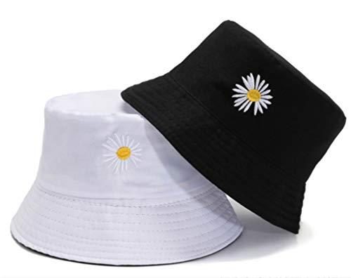 H/A Sombrero de pescador de sol para mujer, sombrero de algodón para niña, ala ancha, verano, playa, pescador, UPF 50+ UV plegable