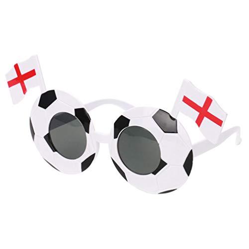 NUOBESTY Gafas De Fiesta Ftbol con Bandera para Copa Mundial Copa de Europa De La UEFA Gafas De Disfraces Divertidas Favores De Fiesta (Inglaterra)