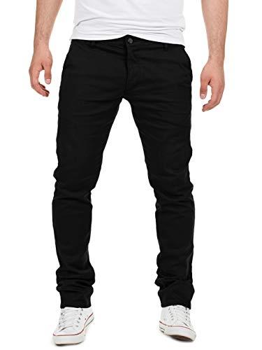 Yazubi Chino Hose Herren - Modell Dustin by Yzb Jeans schwarz - Braune Business Schwarze Chinohose Männer Stretch, Schwarz (Black 4R194008), W33/L32