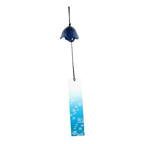Homyl Japanischer Retro Metall Windspiel Klangspiel Glöckchen Windbell Glocke Dekoration - Platycodon Blau