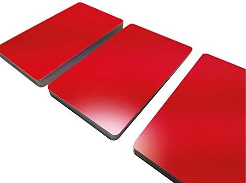 Premium Plastikkarten   PVC Karten ROT MATT   1-100 Stück   Blanko Rohlinge   NEU! (100)