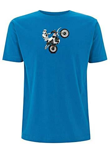 Time 4 Tee Yamaha XT 500 T-Shirt Stormtrooper Classic Scrambler 1970er Jahre Adventure UK Geschenk für Vater, Ehemann, Bruder, Freund Gr. XL, blau