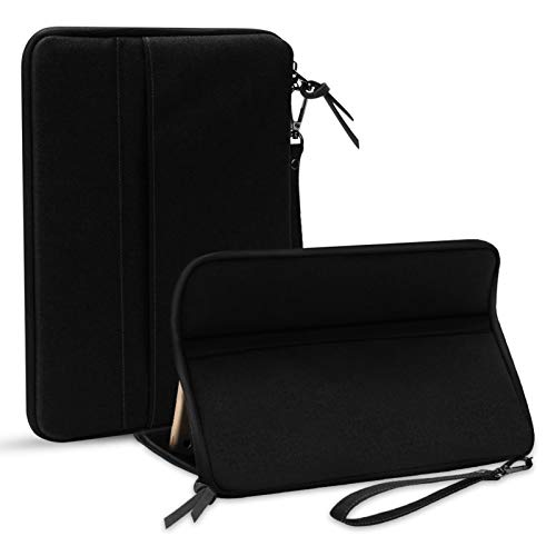 LTLJX Bolsa Portátil para iPad de Apple 7.9-11 Pulgadas, Cubierta de Tela de Oxford Impermeable, Protector de Cuerpo Completo a Prueba de Golpes con Función de Soporte,Negro