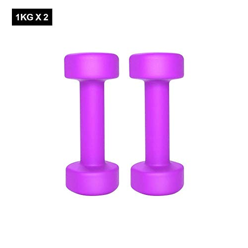 Calmson Soft Touch Mini Hex Dumbbells - 1Pair Weight Exercise Dumbbells Strength Training for Men Women Daily Workout - 1/2KG