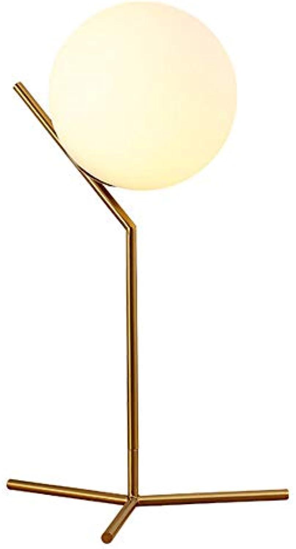 LEERAIN Dimmbar Dekoration Tischlampen, Ball Schreibtischlampe, Modern Leselicht, Nachtlicht, Augenschutz Beleuchtung, Bedside Fürs Büro Schlafzimmer Wohnzimmer,Gold