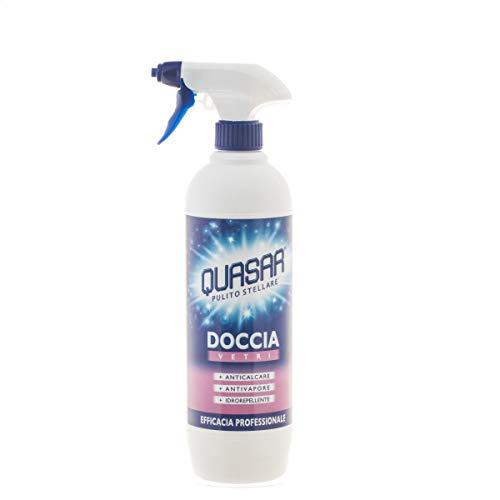 Quasar Detergente per Doccia Vetri - 3 pezzi da 650 ml [1950 ml]