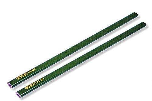 Stanley Maurerbleistift harte Mine (176 mm Länge, 2 Stück) 0-93-932, grün
