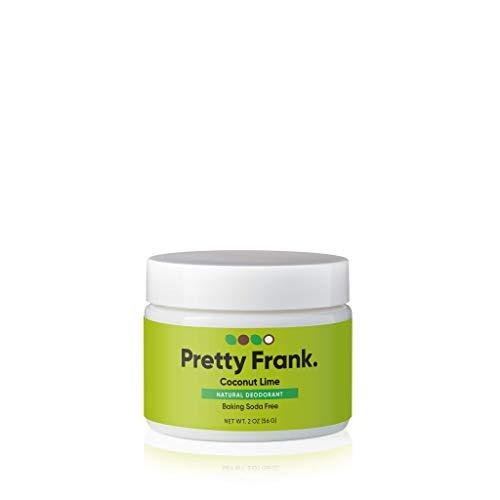 Pretty Frank Natural Deodorant Jar- Baking Soda Free Natural Deodorant for Women, Men, Teens, Kids – Paraben Sulfate Free Deodorant Cream with Coconut Oil, Arrowroot, Vitamin E, Zinc – Coconut Lime
