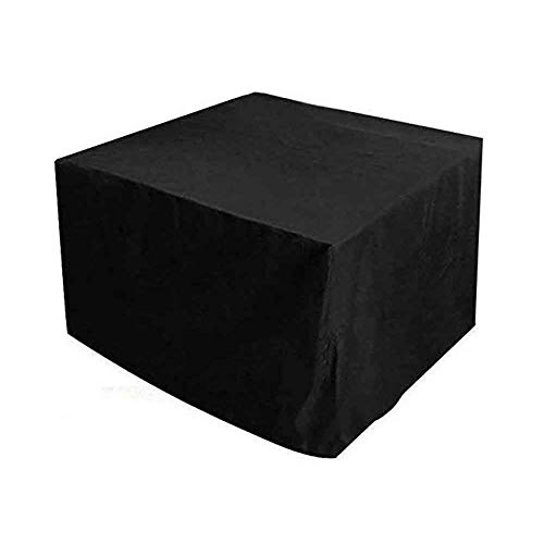 Garden Furniture Cover Patio furniture cover Outdoor table and chair protective cover waterproof dust-proof cube Black Oxford cloth Equipment protection 28 sizes (Color : Black, Size : 80X80X100cm)