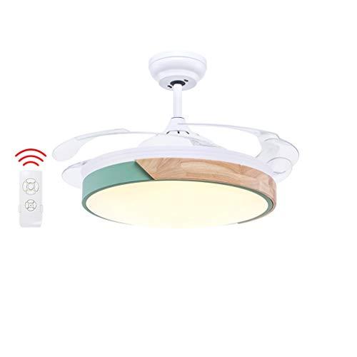 Luz del ventilador Techo de Madera sólida led25w / 40w del Dormitorio del hogar del Restaurante Techo (Color : B-108cm)