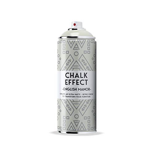 COSMOS LAC Chalk Effect Spray - Hochwertige Kreide-Sprühfarbe - perfekt für DIY Projekte (English Manor Grau)