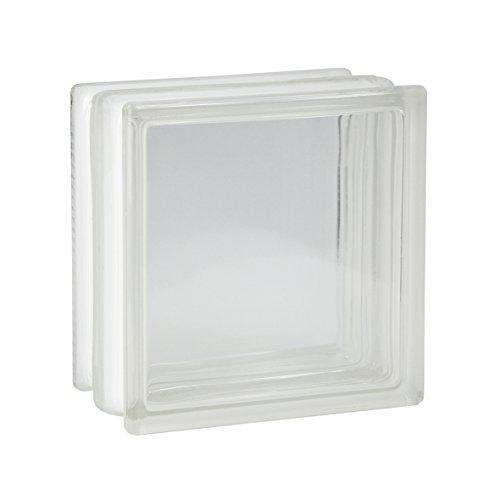 4 Stück FUCHS Glassteine Vollsicht Klar 19x19x10 cm - F30 (Brandschutz)