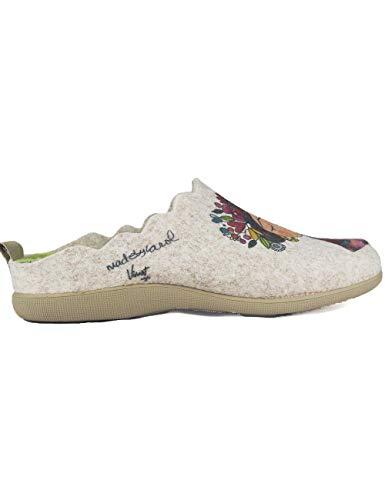 Pantuflas Zapatillas de Estar en casa para Mujer Invierno Vivant 192571 Beig - Color - Beige, Talla - 41