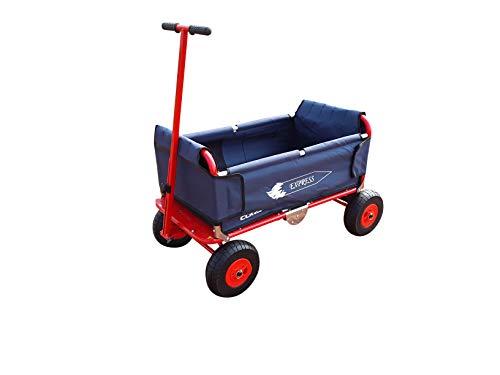 Eckla Express der Falt-Bollerwagen, pannensichere Räder, Farbe Blau