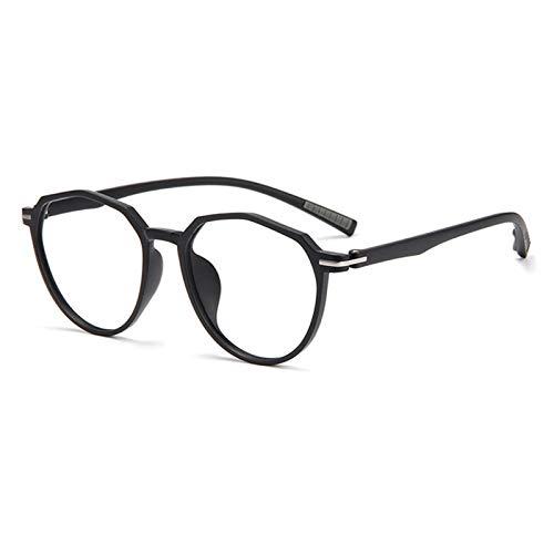 Without Marcos de Gafas Vintage Polygon Frame Clear Lens Glasses Nerd Geek Eyewear Eyeglasses Oversized Redondo Círculo Retro Ojo Gafas (Frame Color : C5)