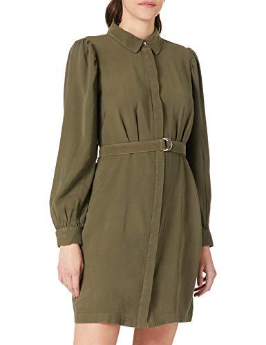 ONLY Damen ONLARIS Life Puff L/S Short Dress PNT Kleid, Kalamata, M