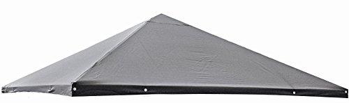 Dachplane 3x3m für Pavillon Pia, Farbe: grau, Ersatzdach, Pavillondach