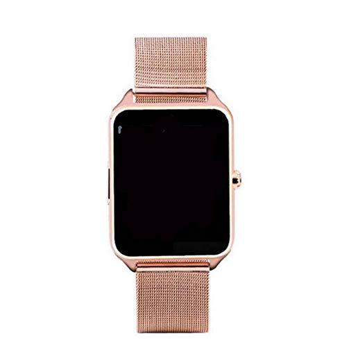 CVBN El reloj inteligente Z60 es compatible con relojes inteligentes Ios System para hombres y mujeres y soporta tarjetas SIM/TF, correas de acero inoxidable, relojes deportivos podómetro y oro.