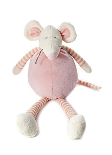 Mousehouse Gifts 34cm große rosa Stoffmaus KuscheltierPlüschtiere für Baby Mädchen