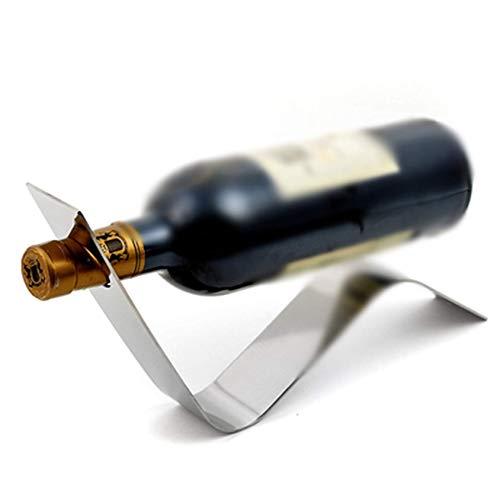 Portabottiglie, esclusivo supporto per ripiano per Vino in Acciaio inossidabile a Forma di S per la decorazione del bancone Bar di casa