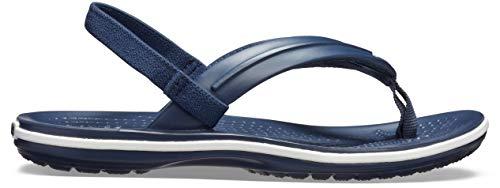 Crocs Unisex-Kinder Crocband Strap Flip Zehentrenner, Blau (Navy 410b), 28/29 EU