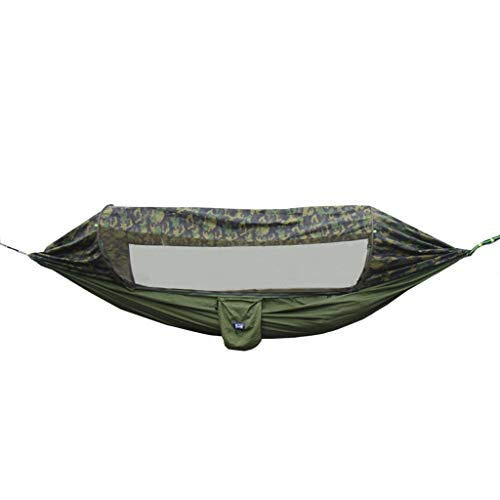 LZG Camping Hammock with Mosquito Net and Rainfly Cover, Lightweight Portable Hammock for Outdoor Backpacking Hiking Travel (Color : Camouflage)