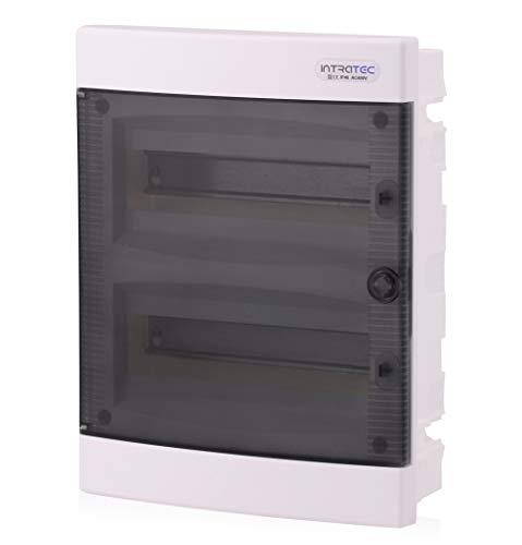 Zekeringkast inbouw IP40 verdeler behuizing 2 rijen tot 24 modules transparante deur voor droogkamer installatie in huis