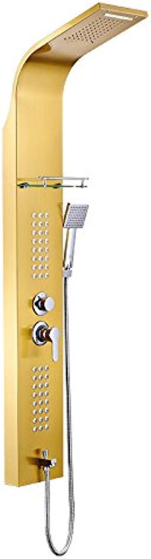 Lvsede Bad Wasserhahn Design Küchenarmatur Niederdruck Bad Duschwand 304 Edelstahl Duschsule Duschkopf Duschkopf Wasserhahn L5247