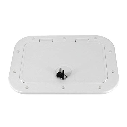 Nbxypeaus Hatch Cover Deck Plate Inspection Access for Marine/Boat/for Kayak/Yacht Accessories, 378 x 248mm, Non-Slip
