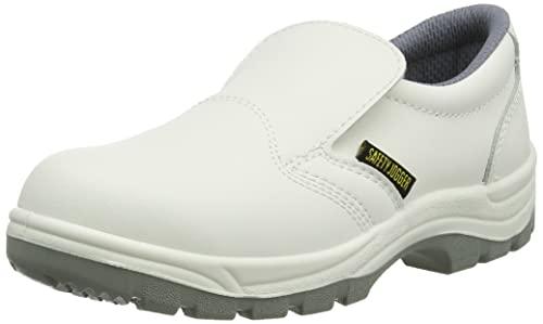 Safety Jogger X0500, Unisexe - Chaussures de travail et de sécurité pour adulte, S2, blanc (wht/lgr 67), EU 36