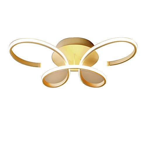 Modern Schön LED Deckenleuchte Kreativ Schmetterling Karikatur Design Deckenlampe Matt Weiß Lampenschirm Kronleuchter für Prinzessin Mädchen Kinder Schlafzimmer Wohnzimmer, Dimmbar mit Fernbedienung