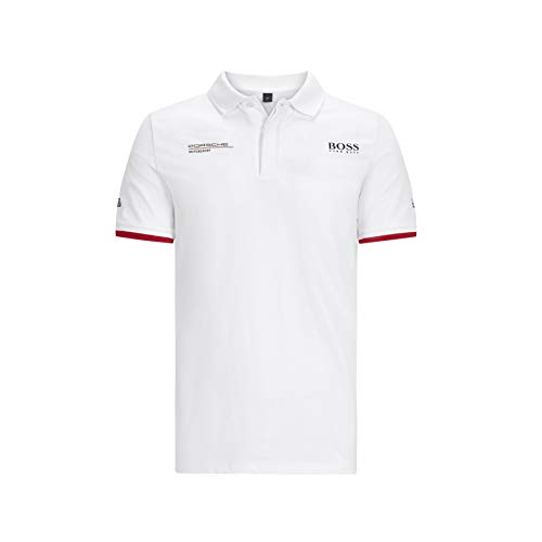 Porsche Motorsport Men's Team Polo Shirt in White (M)