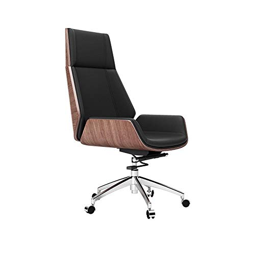 Fanuosuwr Exquisite Bürostuhl Kopfstütze Lendenwirbelstütze E-Sports Stuhl mit Rennstil PU-Leder High Rücken Komfortable Erfahrung (Farbe : Walnut, Size : One Size)