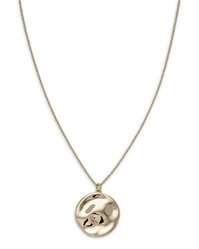 Rosefield Damen Gemaserter Anhänger Halskette Gold JTXCG-J078